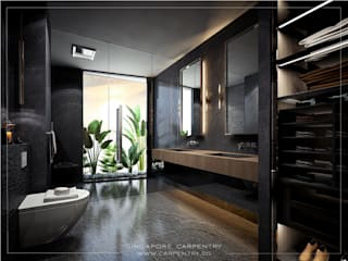 Baños modernos de Singapore Carpentry Interior Design Pte Ltd Moderno
