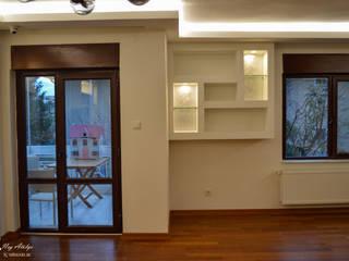 Phòng khách phong cách tối giản bởi NEG ATÖLYE İÇ MİMARLIK Tối giản