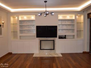 Salas de estar minimalistas por NEG ATÖLYE İÇ MİMARLIK Minimalista