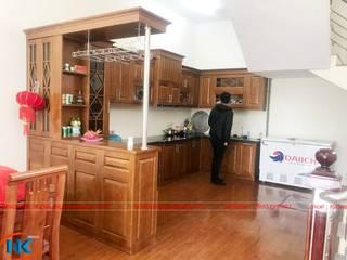 Không nên bỏ lỡ mẫu tủ bếp gỗ sồi rẻ đẹp Nội thất Nguyễn Kim đã thi công năm 2019 bởi Nội thất Nguyễn Kim