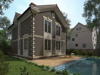 Проект дома в английском стиле «Сиджес» с облицовкой фасада кирпичом от 'Стоун Вуд Хаус'