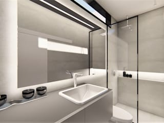 D arquitetura ミニマルスタイルの お風呂・バスルーム