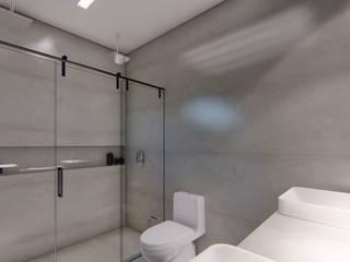 Minimalistyczna łazienka od D arquitetura Minimalistyczny