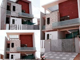 Modern Bungalow Design - Vaishali Nagar, Jaipur White Cube Designs