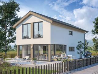 BALANCE Einfamilienhäuser – Moderne Traumhäuser für die optimale Ausnutzung kompakter Grundstücke Bien-Zenker Fertighaus Weiß