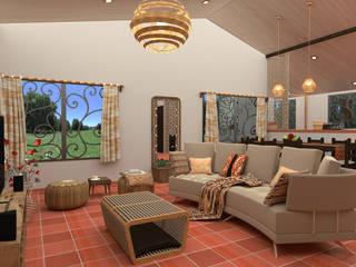 Rediseño, vivienda rural Salas de estilo rural de Milaro Interiorismo Rural