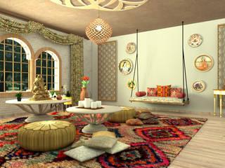 Diseño Indio contemporáneo Salas de estilo ecléctico de Milaro Interiorismo Ecléctico