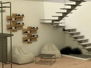 Espacio integrado multifuncional Comedores de estilo moderno de Milaro Interiorismo Moderno