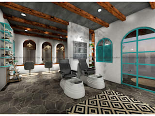 THE WHITE SPOT SALON@SHARJAH by The tree design studios Tropical