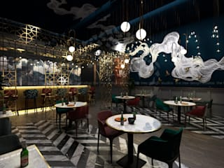 FLAME RESTAURANT@SHARJAH Modern dining room by The tree design studios Modern