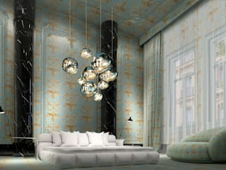 iconic design Eclectic style hotels Marble Turquoise