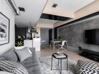 L HOUSE 现代客厅設計點子、靈感 & 圖片 根據 林全偉建築師事務所 現代風