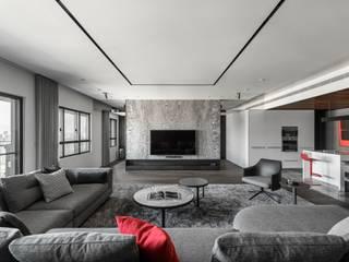 褪色 现代客厅設計點子、靈感 & 圖片 根據 十境創物空間設計 現代風
