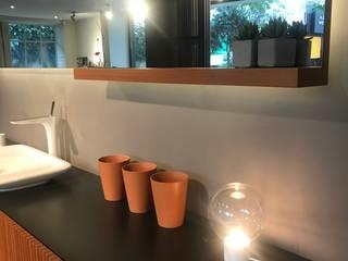 Teak Ahşap Banyo Tasarımı&Uygulaması Modern Banyo Leyla Köken Mimarlık Modern