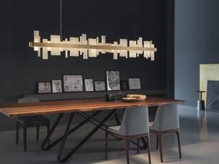 Honice Designerleuchten von Masiero bei lights4life lights4life GmbH & Co.KG EsszimmerBeleuchtungen Naturfaser Beige
