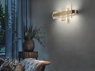 Honice Designerleuchten von Masiero bei lights4life lights4life GmbH & Co.KG Flur, Diele & TreppenhausBeleuchtungen Naturfaser Beige