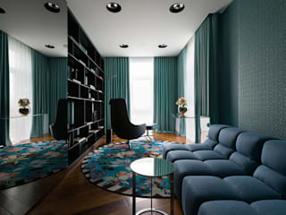 Color blocking від Юрія Зіменко або fashion апартаменти у Києві by Design Studio Yuriy Zimenko Сучасний