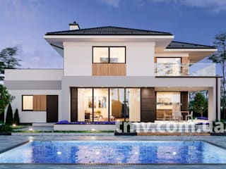 Проект стильного двухэтажного дома TMV 2 от TMV Architecture company