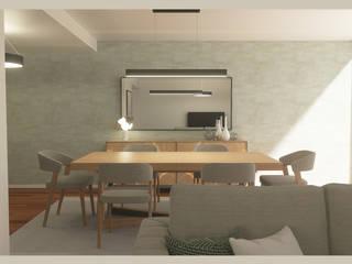 Design de interiores para moradia moderna no Porto por Madeira Negra Moderno