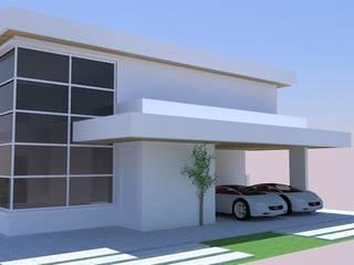 Residência FL Lisiane Leoni Arquitetura e Urbanismo Casas familiares Branco