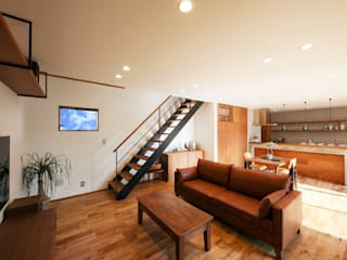 Eclectic style living room by STaD(株式会社鈴木貴博建築設計事務所) Eclectic