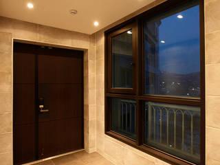 광장동 자이 60py 모던스타일 복도, 현관 & 계단 by Design Daroom 디자인다룸 모던