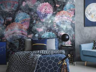 Обои BALLOONS Спальня в скандинавском стиле от FACTURA Скандинавский