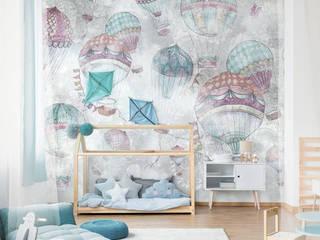 Обои BALLOONS Детская комнатa в скандинавском стиле от FACTURA Скандинавский
