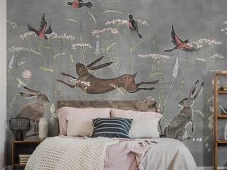 Обои WONDERLAND Спальня в скандинавском стиле от FACTURA Скандинавский
