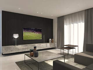 Bachelor Pad in Hyde Park Modern living room by Inside Ordinary Modern