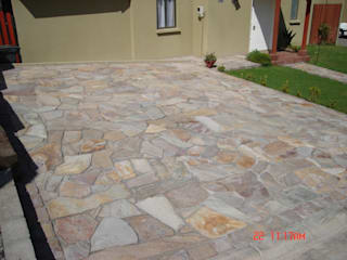 Piedra Laja Estacionamientos de hogartotal Chile Rústico
