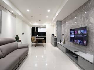 色階微調 现代客厅設計點子、靈感 & 圖片 根據 張顥騰室內裝修設計有限公司 現代風