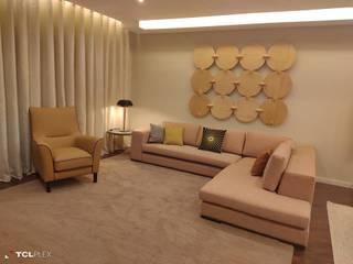 Moradia Unifamiliar, Mafra Salas de estar ecléticas por CMM Interiores, Ambientes & Decoração Eclético