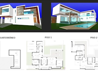 Diseño de viviendas unifamiliares de LSJ Arquitecto Moderno
