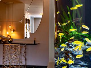 Acquario Curvo di MELIK LUXURY Aquarium Moderno
