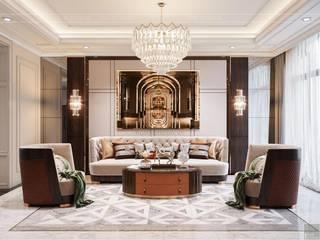 LAVILLA NEOCLASSICAL STYLE Phòng khách phong cách Bắc Âu bởi Thiết kế nội thất ICONINTERIOR Bắc Âu