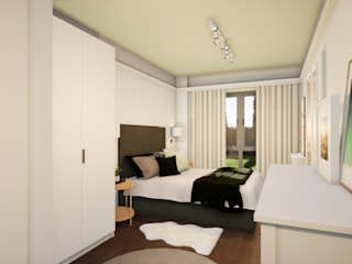 Revisite Modern style bedroom MDF White