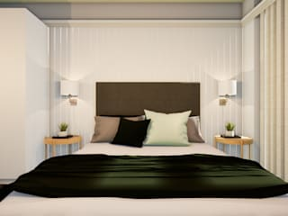 Revisite Modern style bedroom MDF Beige