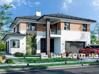 Проект стильного двухэтажного дома TMV 81 от TMV Architecture company