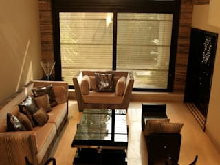 Rich & Aki Modern living room Solid Wood Beige