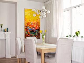 Трехкомнатная квартира в скандинавском стиле Столовая комната в скандинавском стиле от дизайнер-ахитектор Катерина Кузьмук Скандинавский