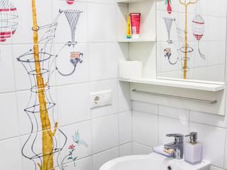 Трехкомнатная квартира в скандинавском стиле Ванная комната в скандинавском стиле от дизайнер-ахитектор Катерина Кузьмук Скандинавский