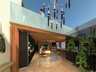loft Ingresso, Corridoio & Scale in stile moderno di ROSA CARBONE DESIGN Moderno