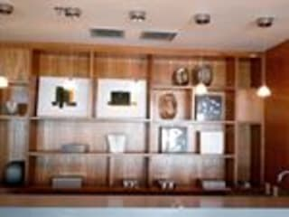 Nossas obras no Rio de Janeiro Salas de estar modernas por Mallu móveis planejados Moderno