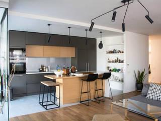 Трехкомнатная квартира в стиле минимализм с элементами лофта от дизайнер-ахитектор Катерина Кузьмук Минимализм
