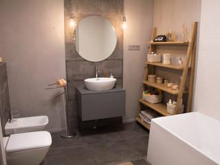 Трехкомнатная квартира в стиле минимализм с элементами лофта Ванная комната в стиле минимализм от дизайнер-ахитектор Катерина Кузьмук Минимализм