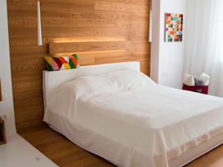 Трехкомнатная квартира в стиле минимализм с элементами лофта Спальня в стиле минимализм от дизайнер-ахитектор Катерина Кузьмук Минимализм