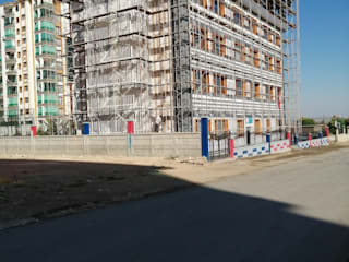 Dış Cephe Mantolama İskele Kurumu Gökçe Yapı Ofisler ve Mağazalar Orta Yoğunlukta Lifli Levha Beyaz