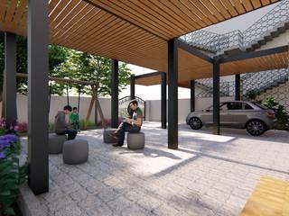 Modern corridor, hallway & stairs by designasm Studio Modern