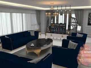 LUXURY FURNİTURE  SALON PROJESİ Roza Mobilya mimari dekorasyon Oturma OdasıKanepe & Koltuklar